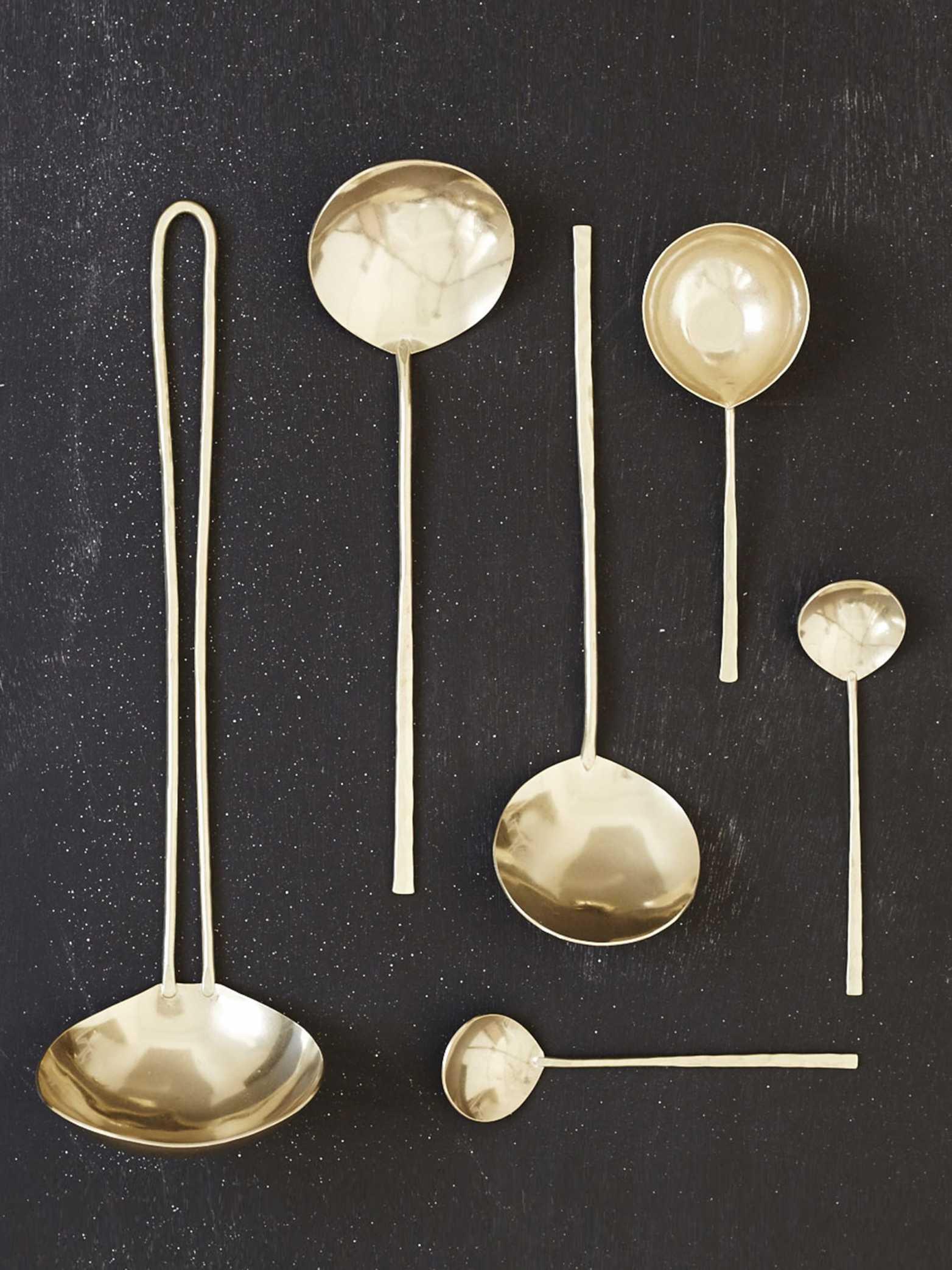 Japanese Brass Spoons - Lue brass