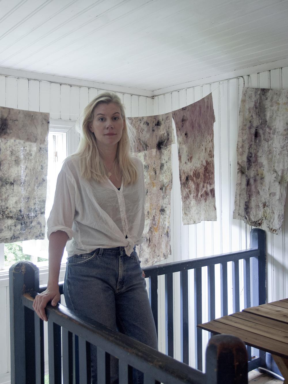 Hanna Kvarnhammar, textil konstnär, Stockholm