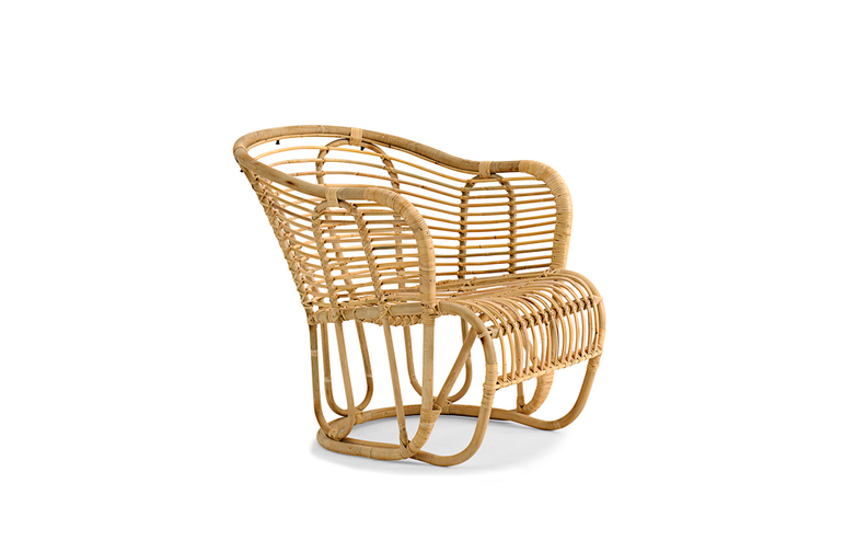 Rattan Swing Armchair