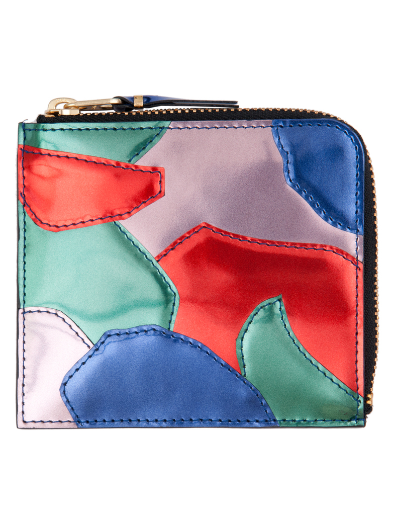 Metallic Patchwork Zip Wallet
