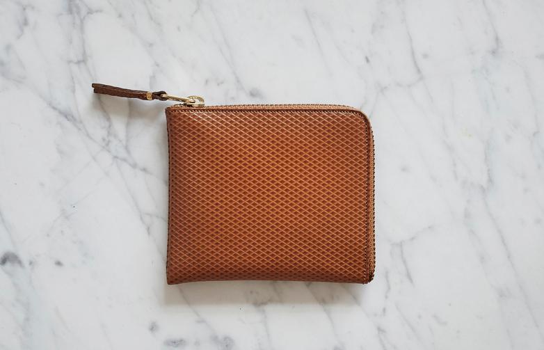 Luxury Zip Wallet Beige