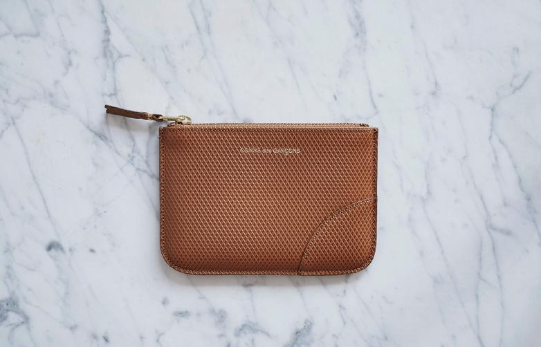 Luxury Pouch Wallet Small Beige