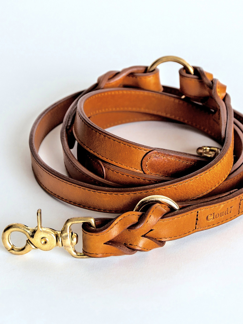 Hyde Park Collar / Leash - Cognac