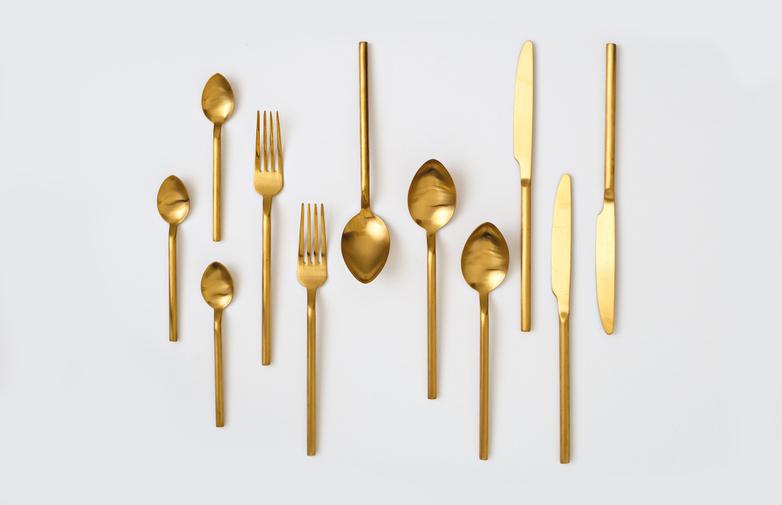 Herdmar Desire Old Gold Cutlery