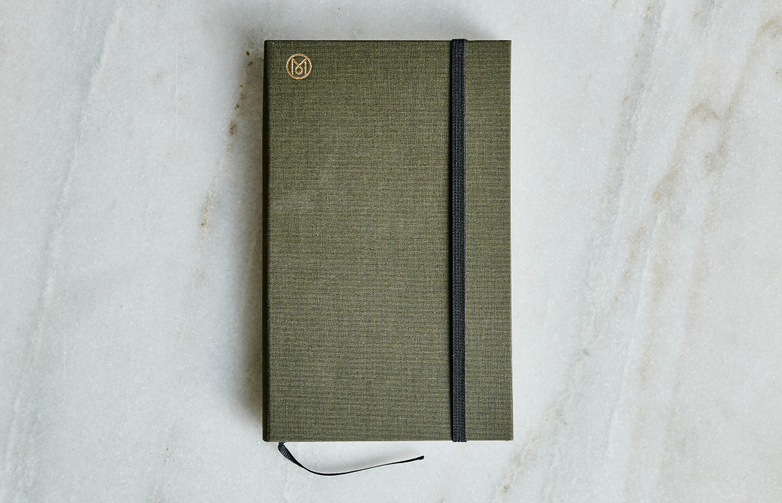 Monocle Accordion Pocket Notebook Olive