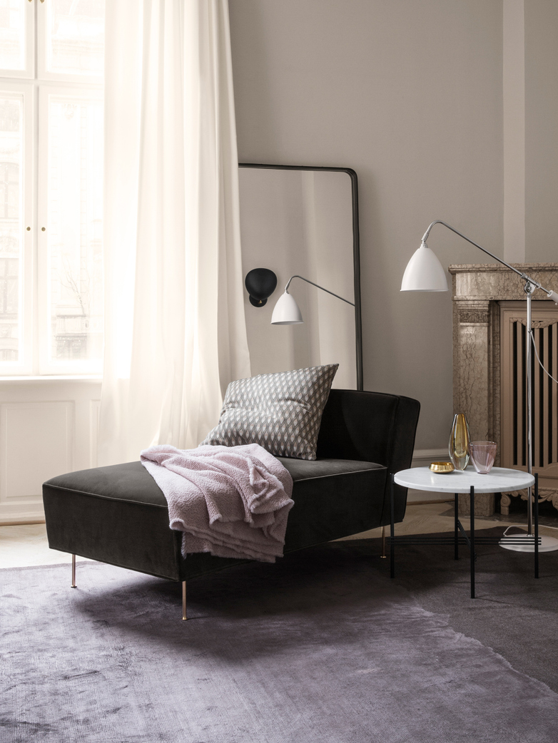 Modern Line Chaise Velvet Longue 142 CM