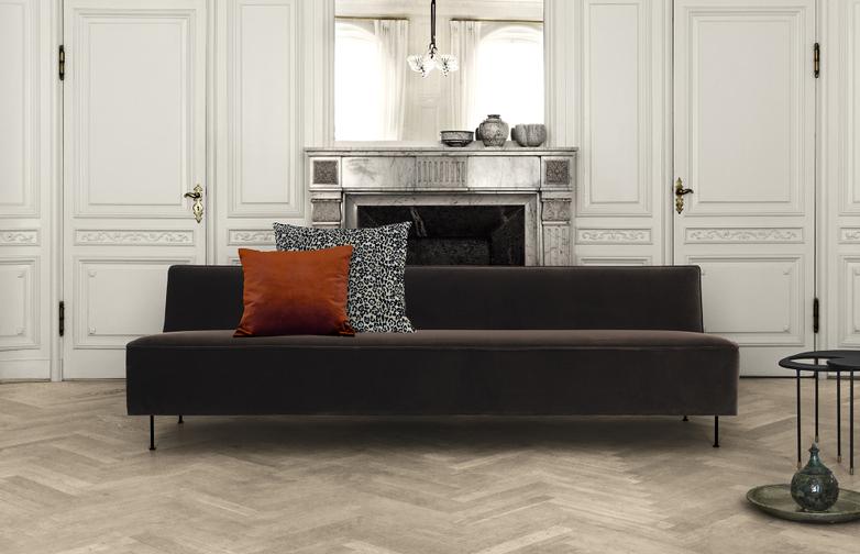 Modern Line Sofa Velvet 240 cm