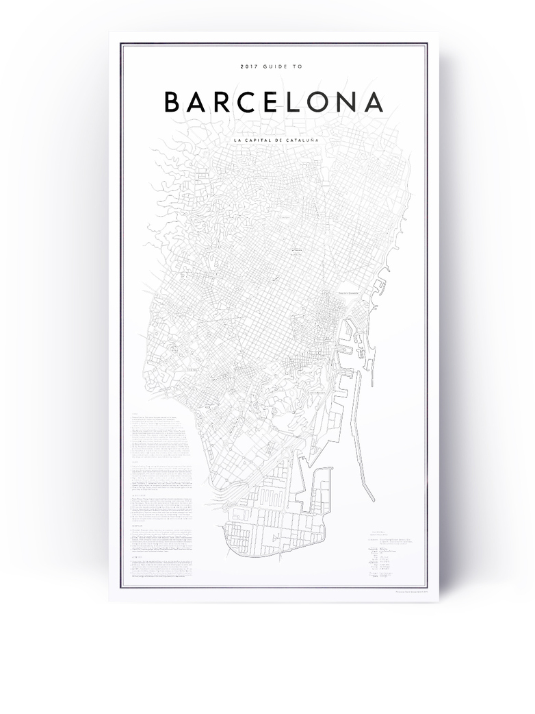 2017 My Guide To Barcelona  58 x 100 cm