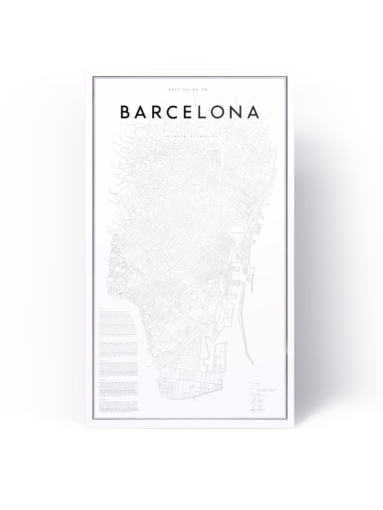 2017 My Guide To Barcelona  41 x 70 cm