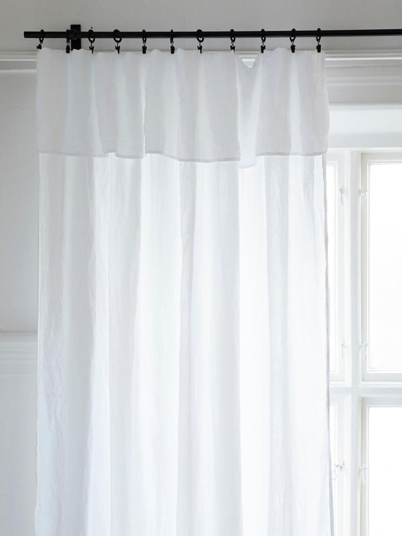 Selena Washed Linen Curtain Neige 180x290