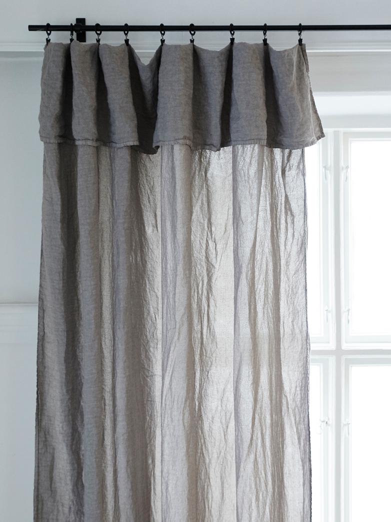 Selena Washed Linen Curtain Alu 180x290