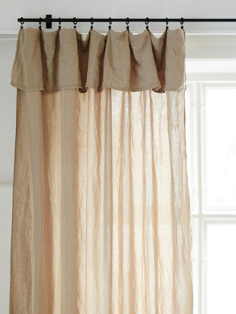 Selena Washed Linen Curtain Gazelle 180x290