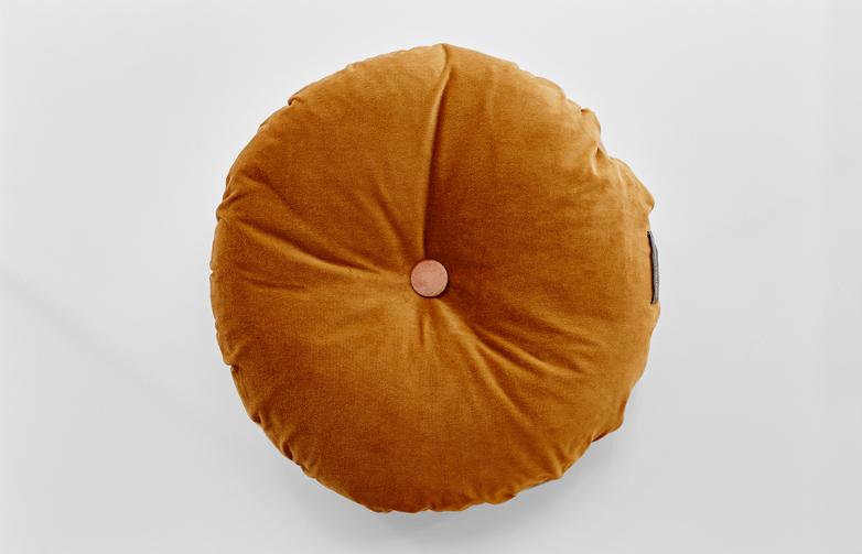Distinct Round Curry/ Desert Peach