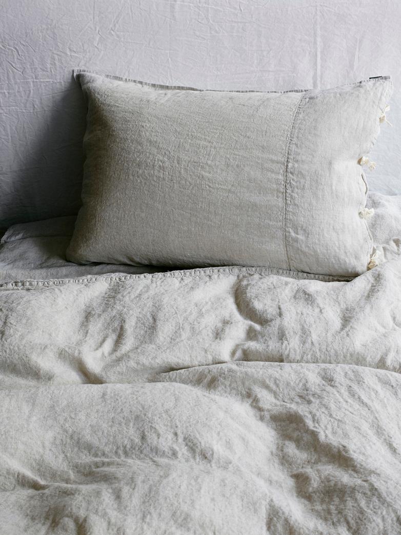 Selena Washed Linen Bed Set Ciment