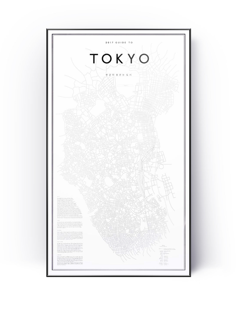2017 My Guide To Tokyo  58 x 100 cm