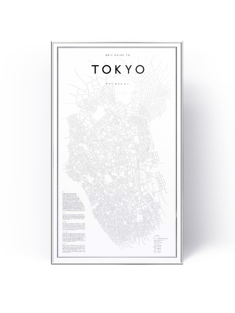 Guide To Tokyo 41 x 70 cm