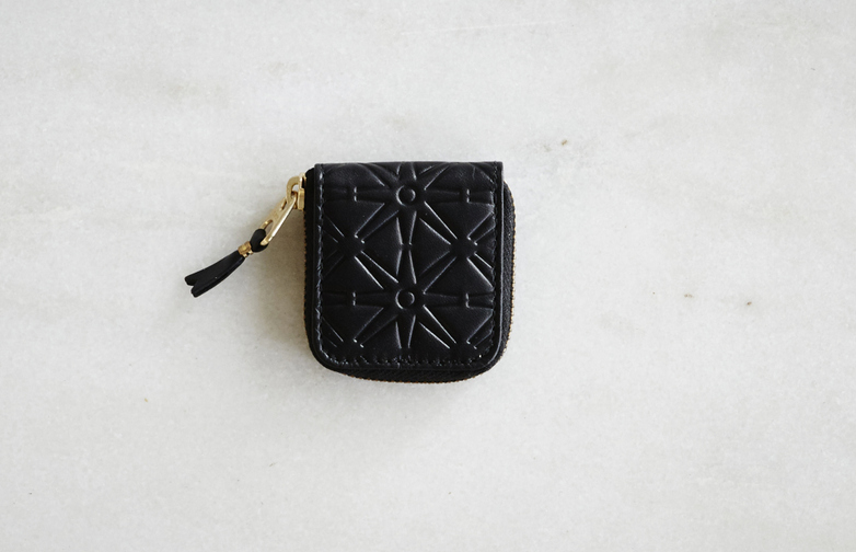 Embossed Coin Case Black
