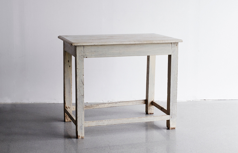 Marble Table with White Frame