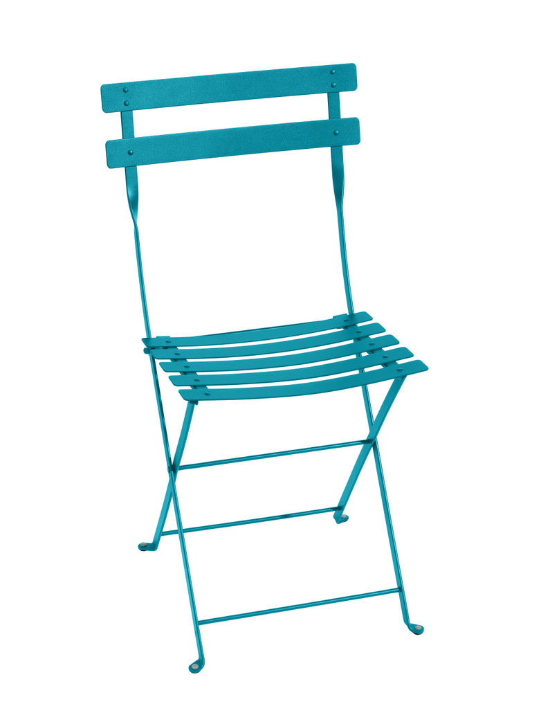 Bistro Folding Chair 16 Turquoise - 2 pack