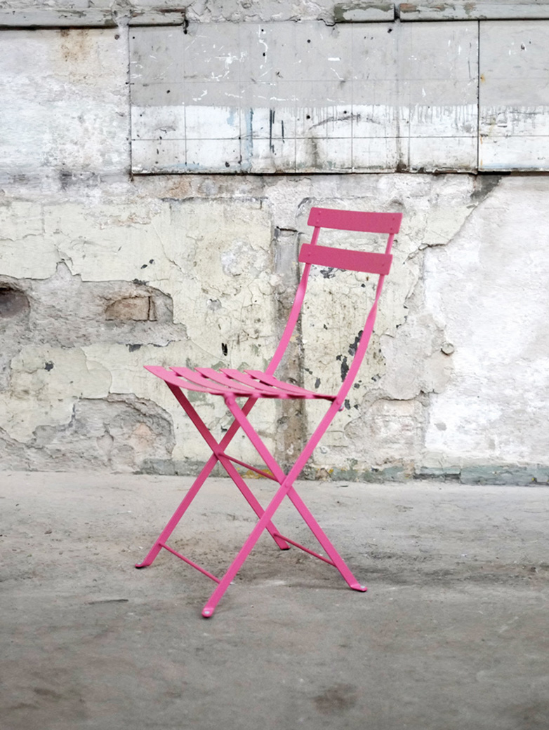 Bistro Folding Chair 25 Fuchsia - 2 pack