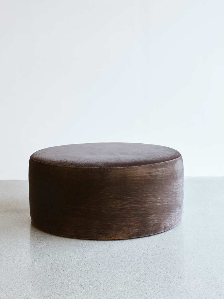 Round Pouf Brown