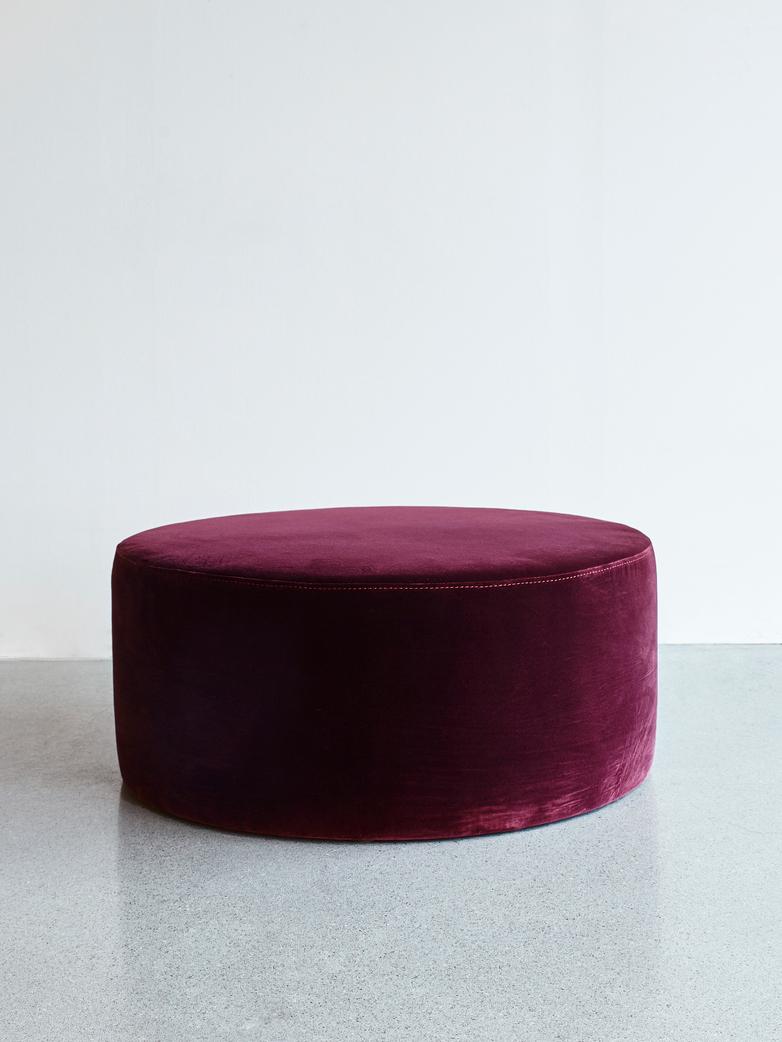 Round Pouf Light Purple