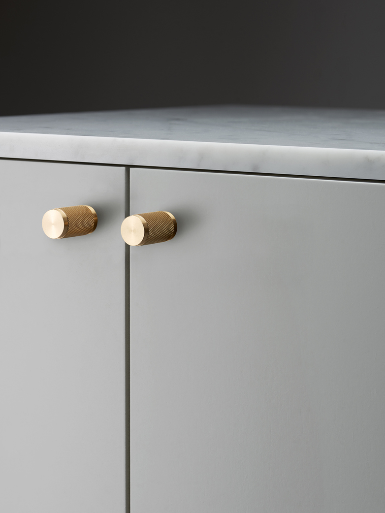 Set of Two Brushed Brass