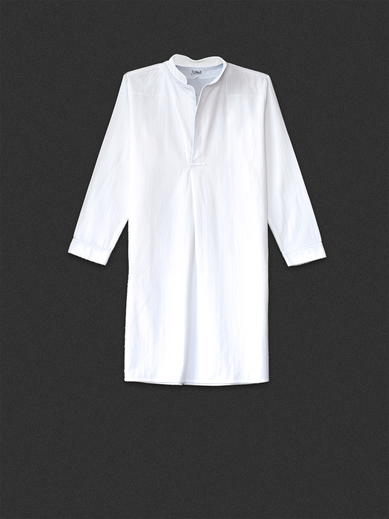 Night Shirt White/White