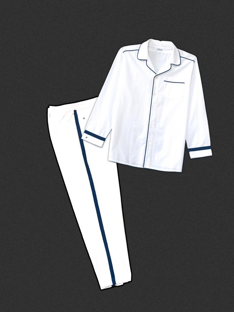 Pyjama White/Blue