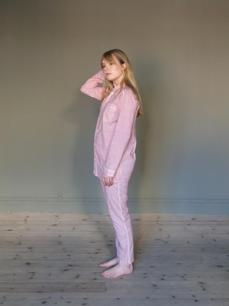 Pyjama Thin Waves White/Red