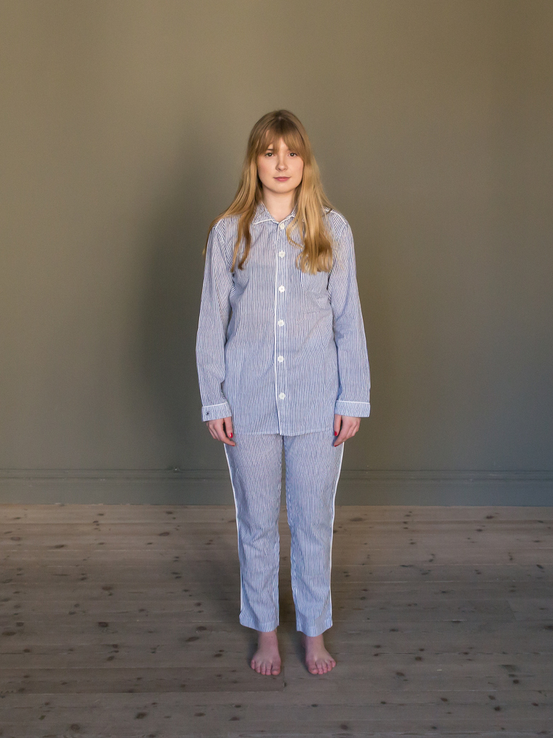 Pyjama Thin Waves White/Blue