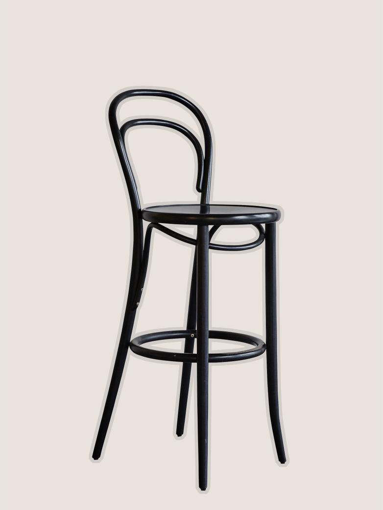 Barstool No 14 Wood Black - Wood Seat