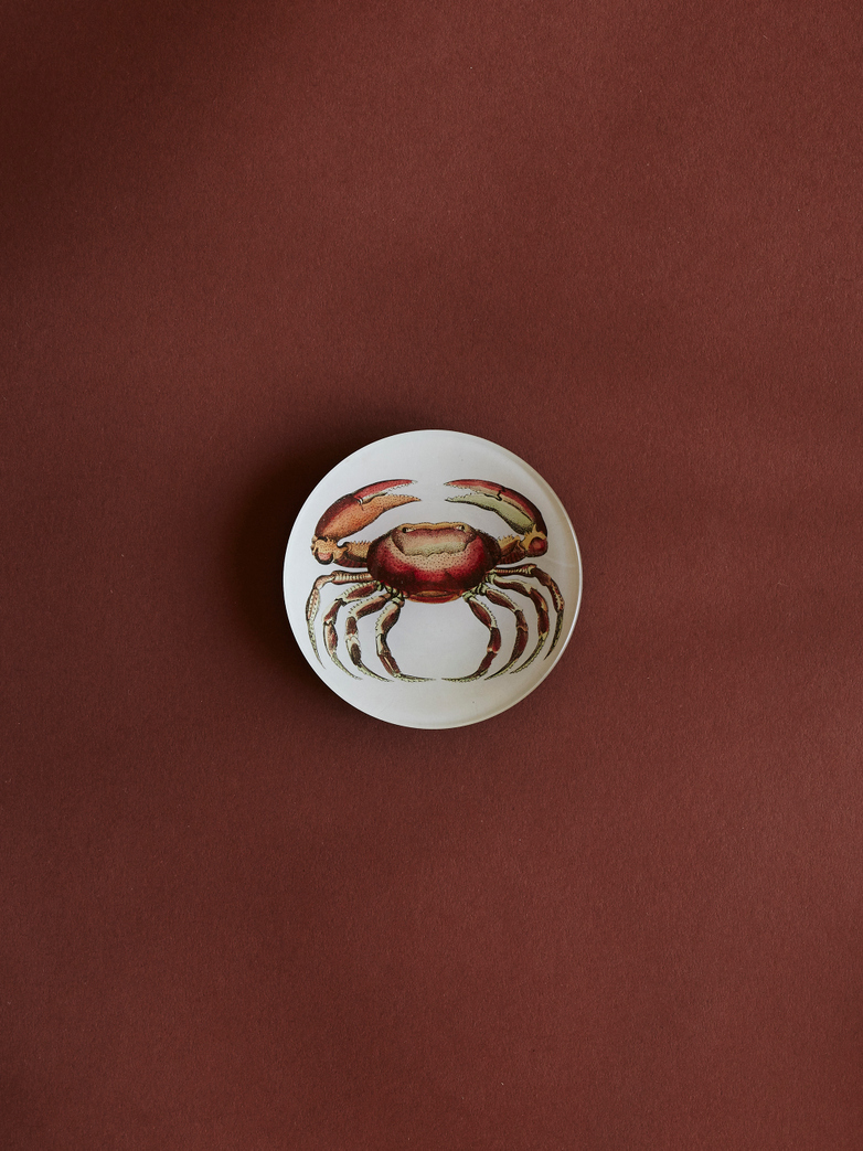 Oval Crab Round Plate