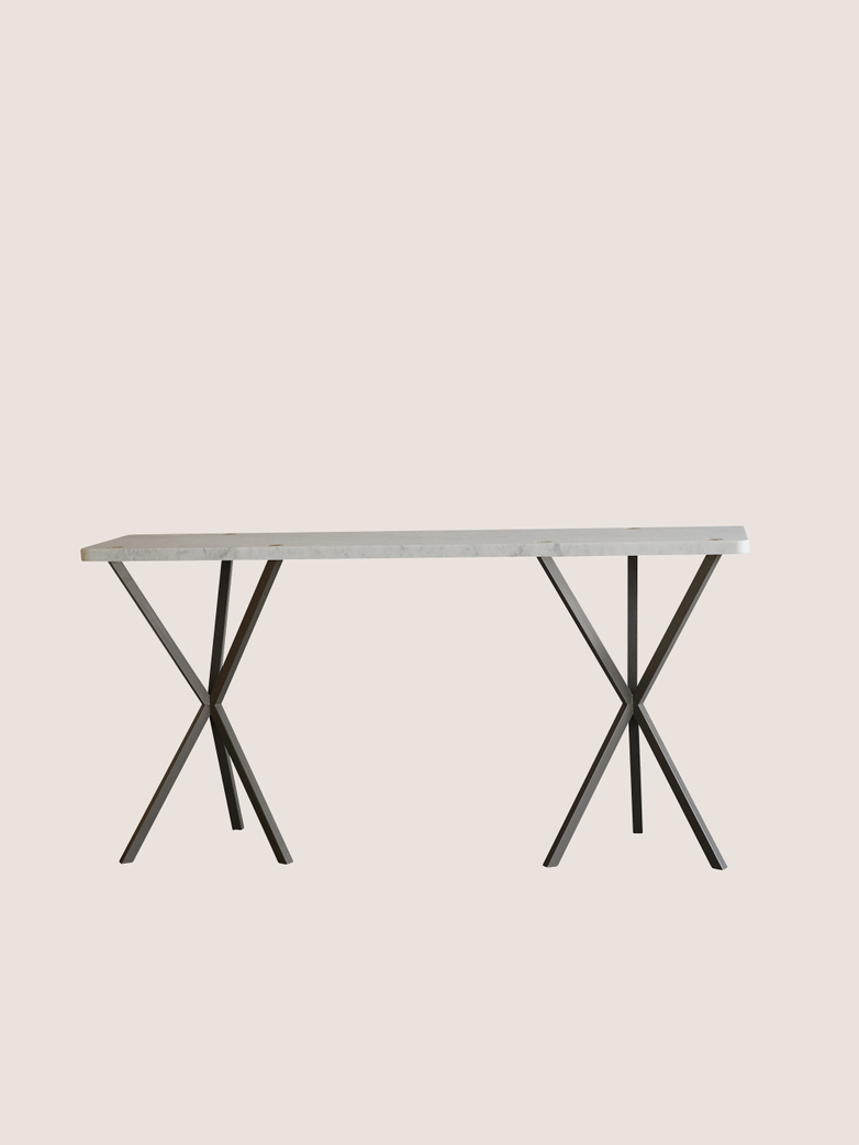 Console Table 03 Marble Grey Base
