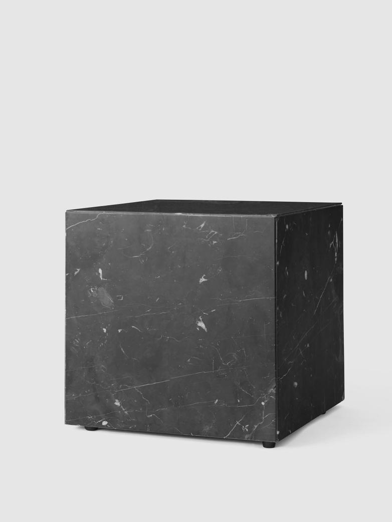 Plinth Cubic Black Marble