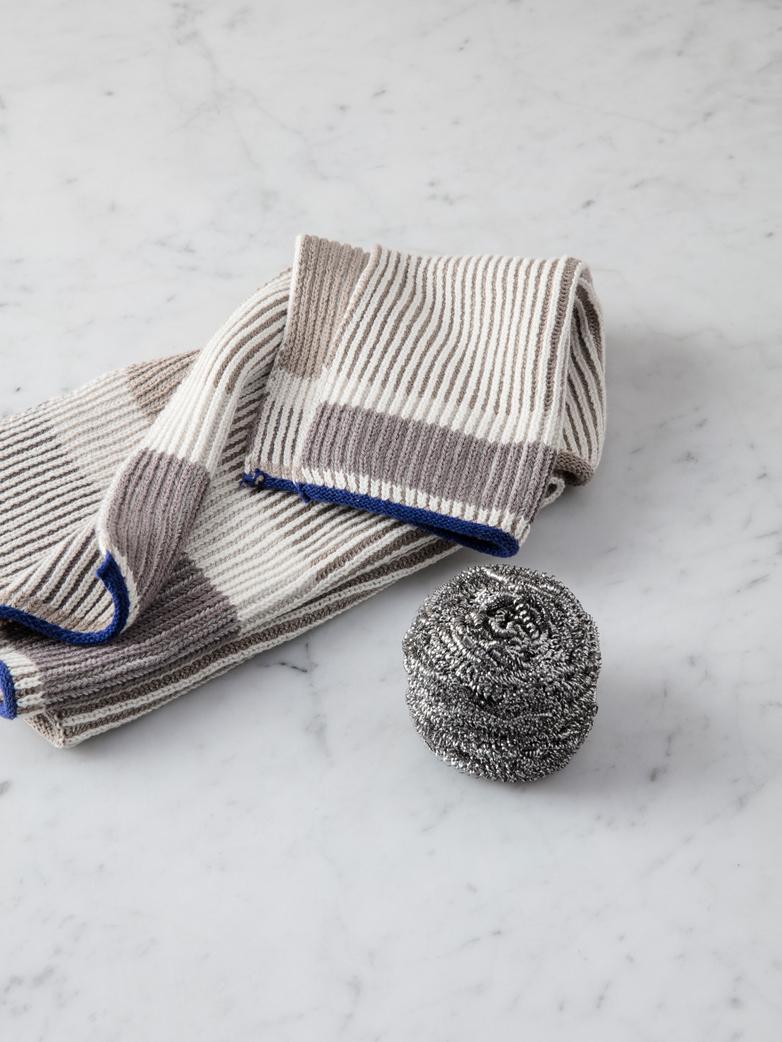 Akin Knitted Dish Cloth Beige