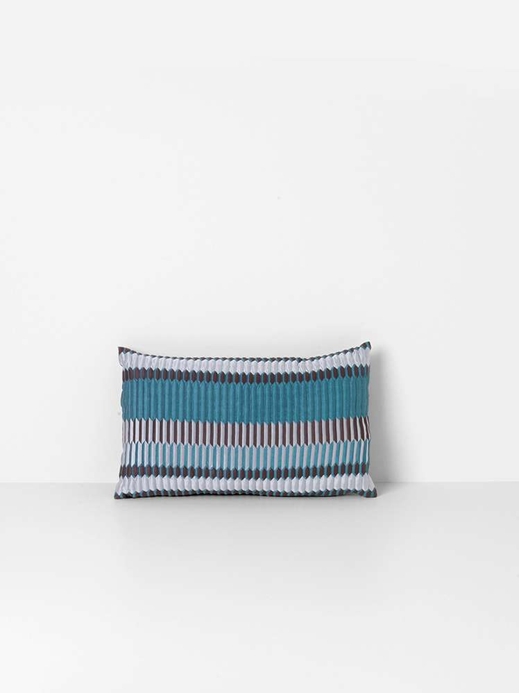 Salon Cushion Pleat Sea 40x25 cm