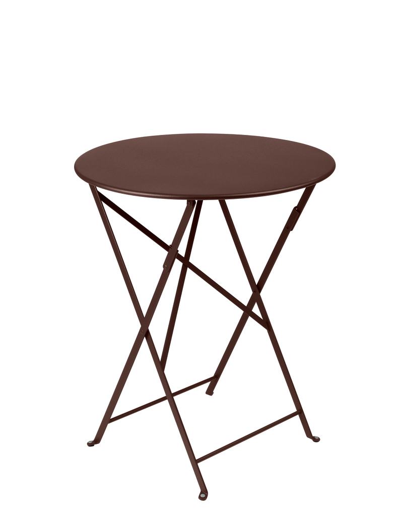 Bistro Folding Table Round 09 Russet