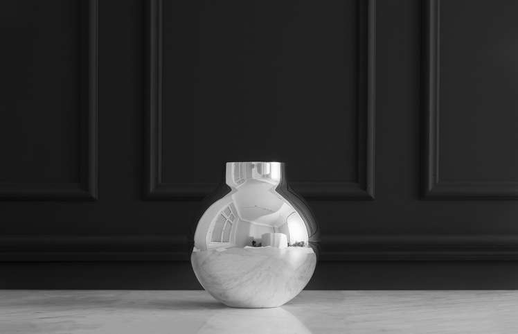 Boule Vase Extra Small Silver