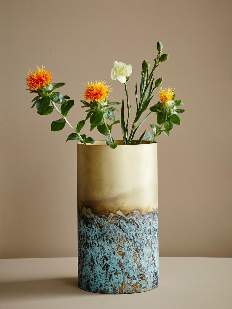 Vase Verdi Brass