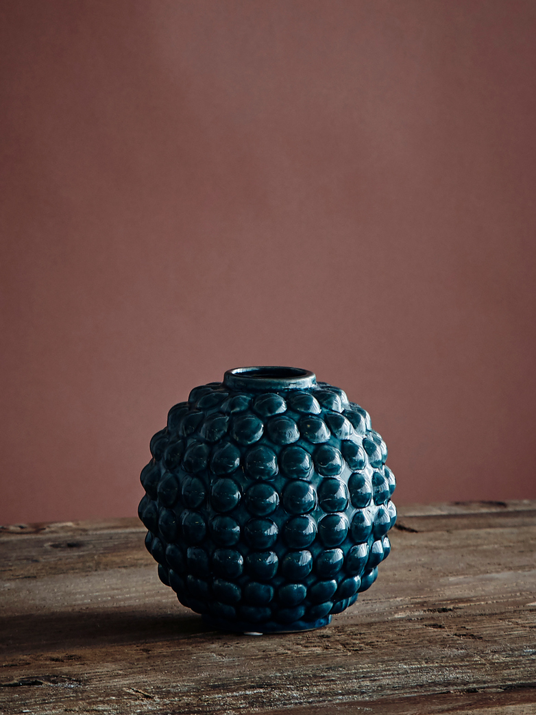 Vase Dotty Round - Blue