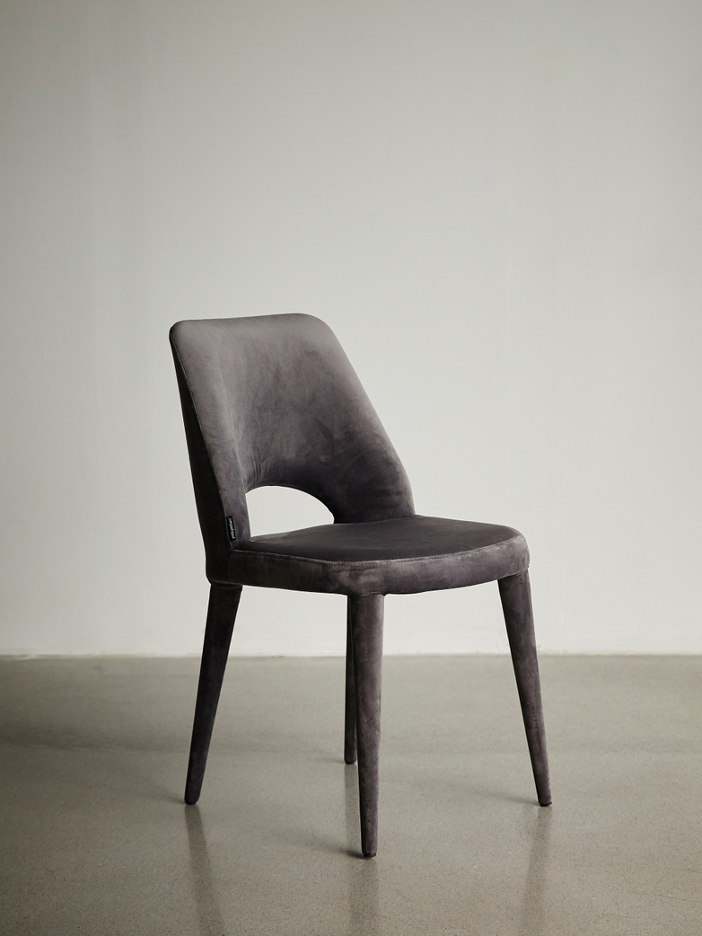 Chair Holy Velvet Grey