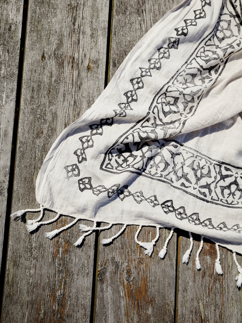 Hamam Beach Towel Linen & Cotton 150x220 cm