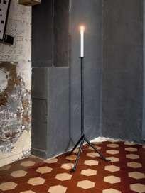 Officina Floor Candleholder 1 Arm - Black