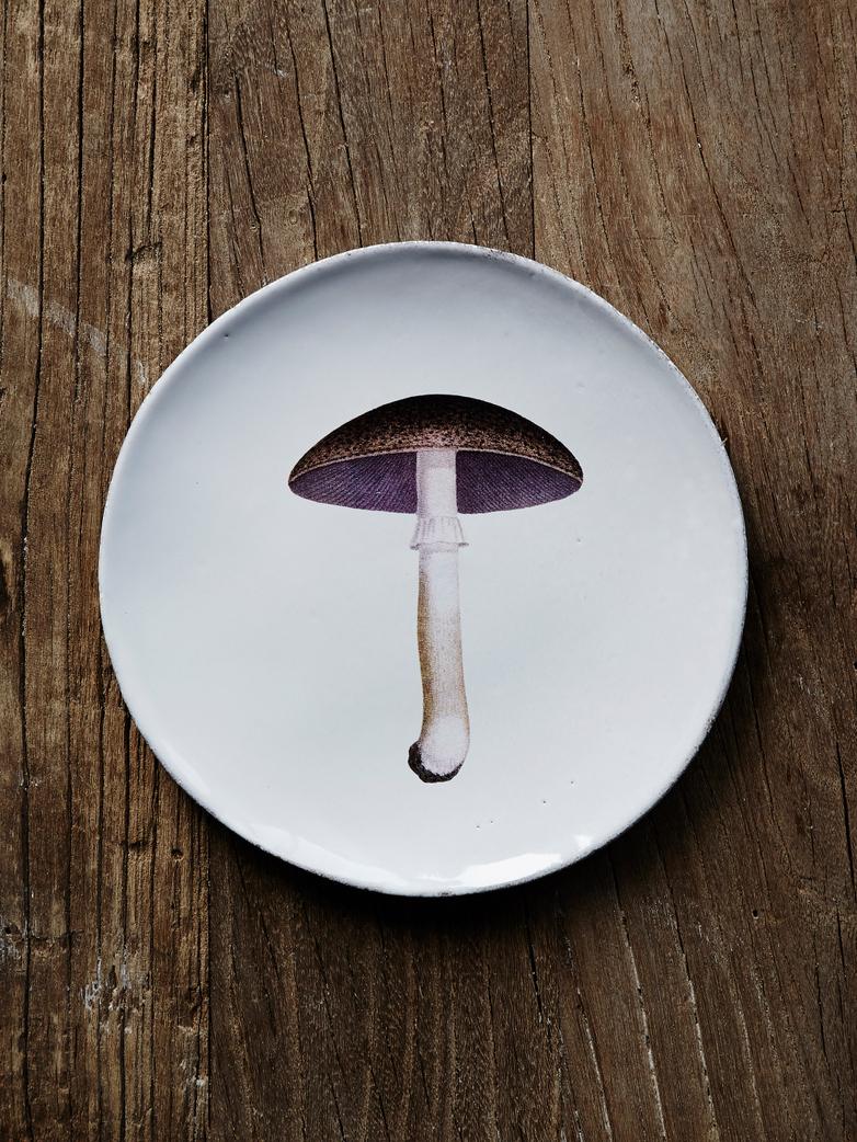 Mauve Chamignon Comestible Dinner Plate