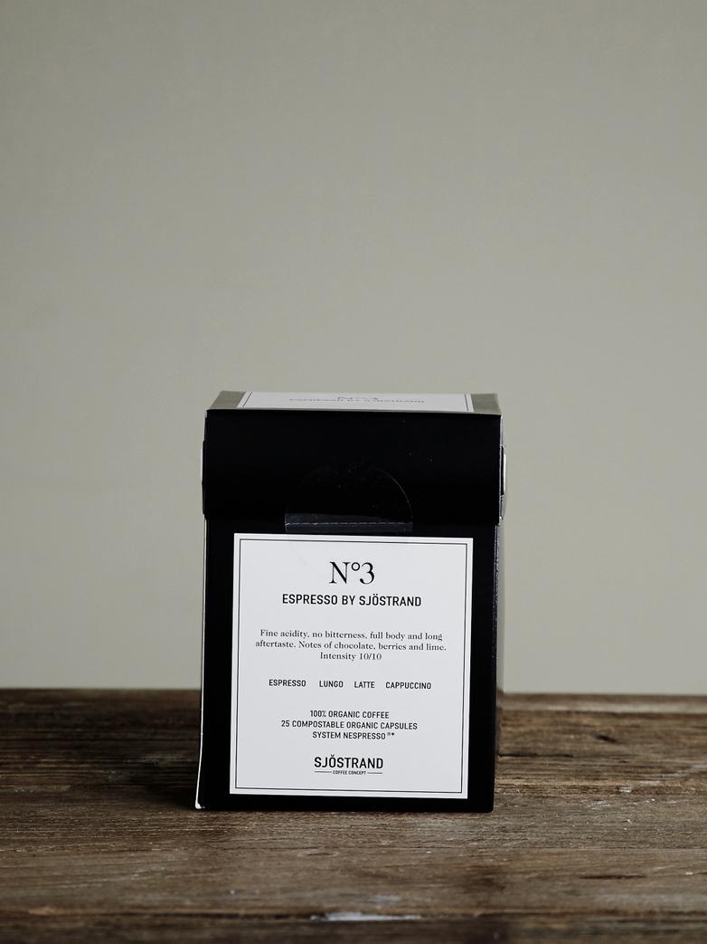 No3 Espresso by Sjöstrand (25-pack)