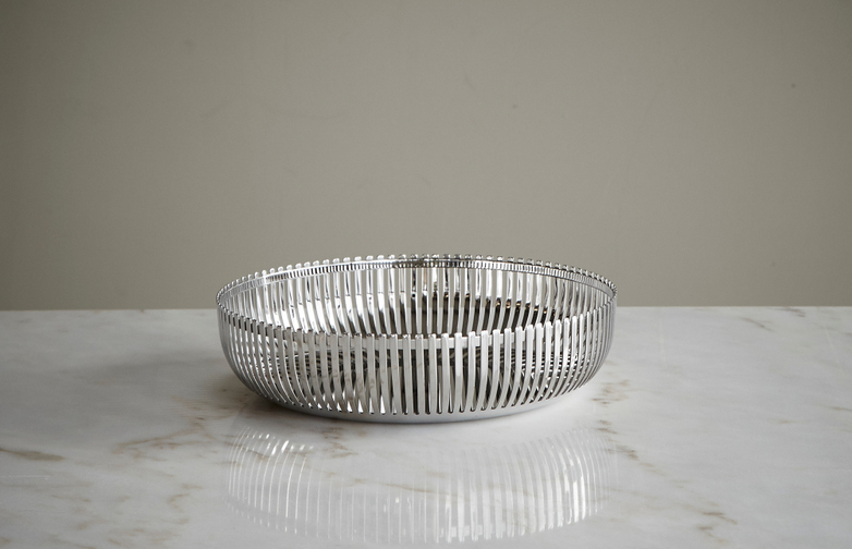 Steel Mirror Basket