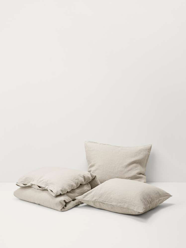 Stone Washed Linen - Sand Grey
