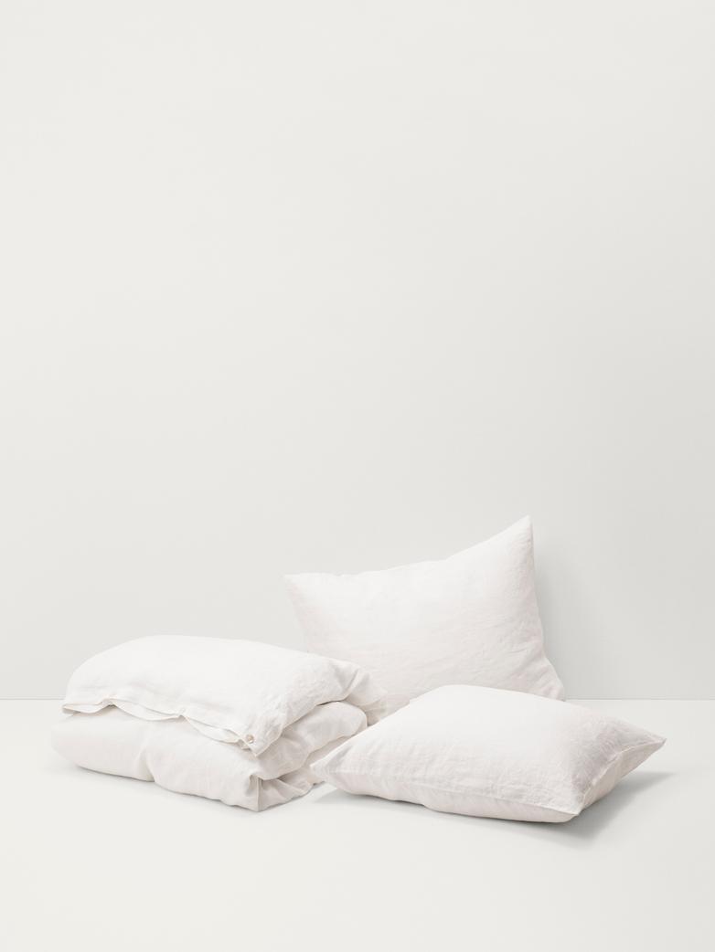 Stone Washed Linen - Creme White