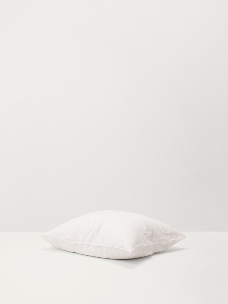 Stone Washed Linen - Creme White